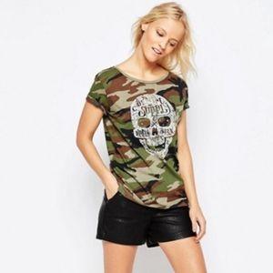 Denim & Supply Ralph Lauren Camo T-Shirt w/ Skull
